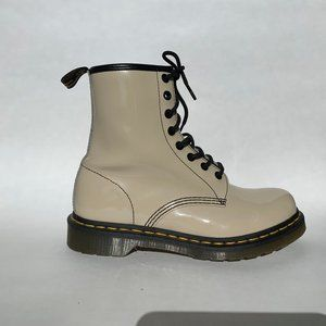 Dr Martens Cream/ Off White Booties